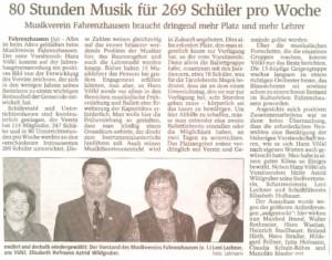80 Stunden Musik für 269 Schüler pro Woche