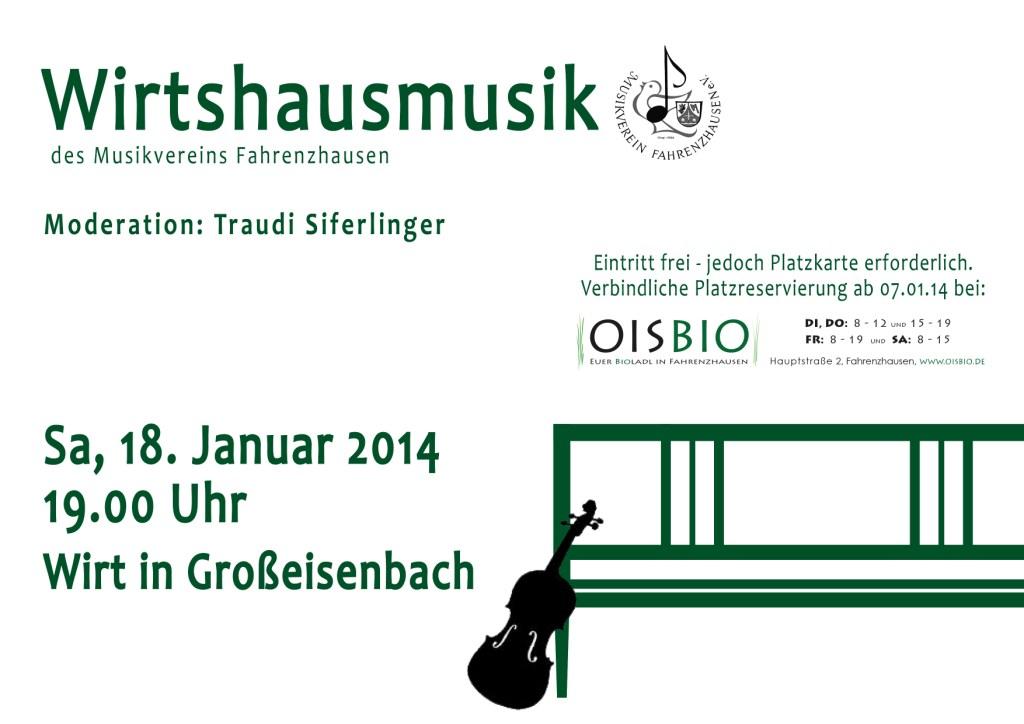 Wirtshausmusik 2014