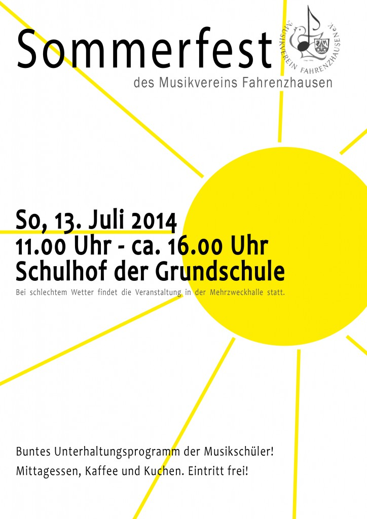 Sommerfest Plakat 2014