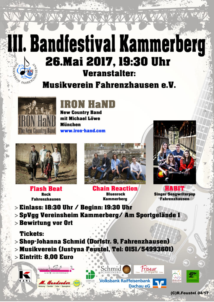 3. Bandfestival in Kammerberg @ Vereinsheim des SpVgg Kammerberg | Fahrenzhausen | Bayern | Deutschland