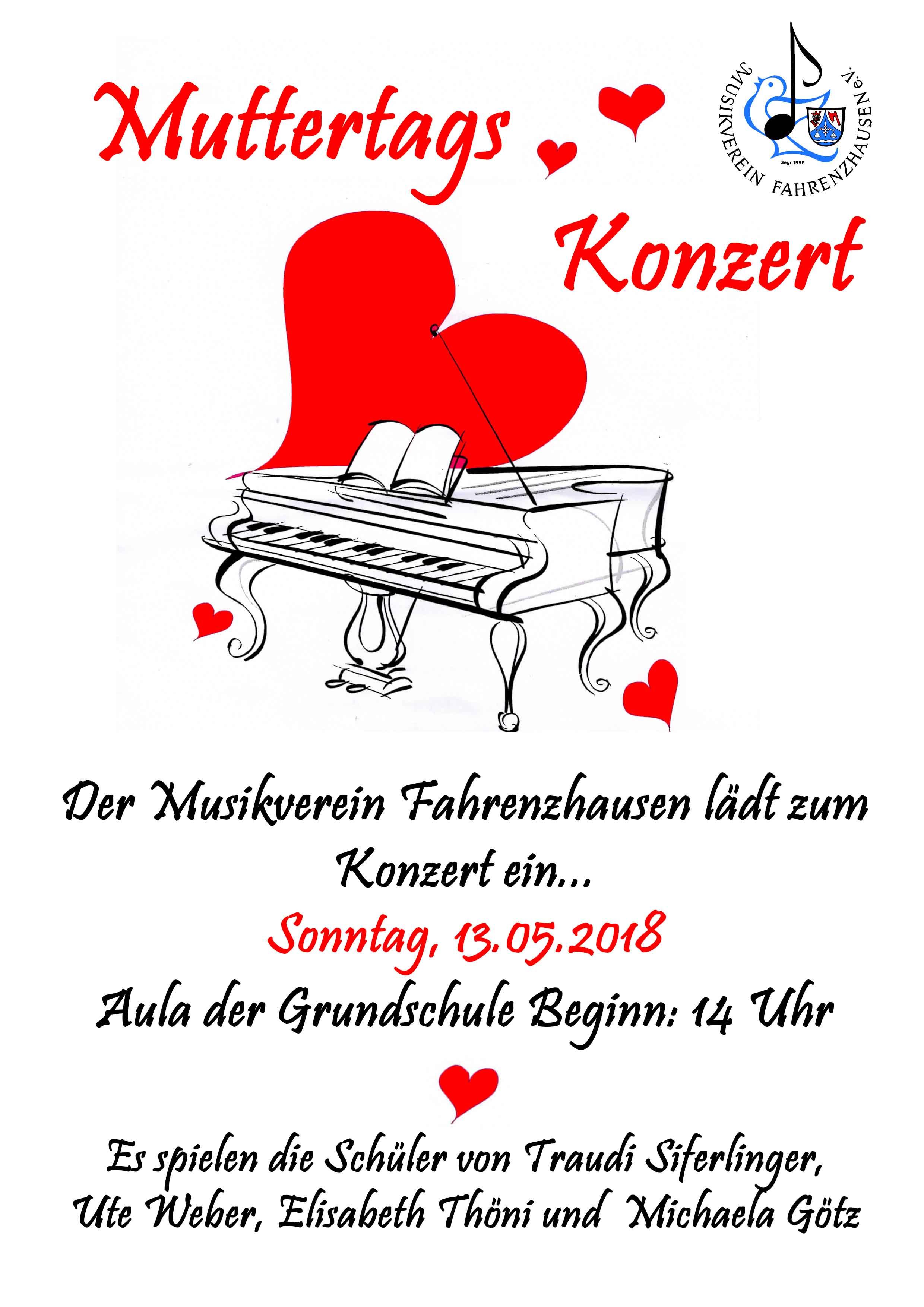 Muttertagskonzert @ Grundschule Fahrenzhausen | Fahrenzhausen | Bayern | Deutschland