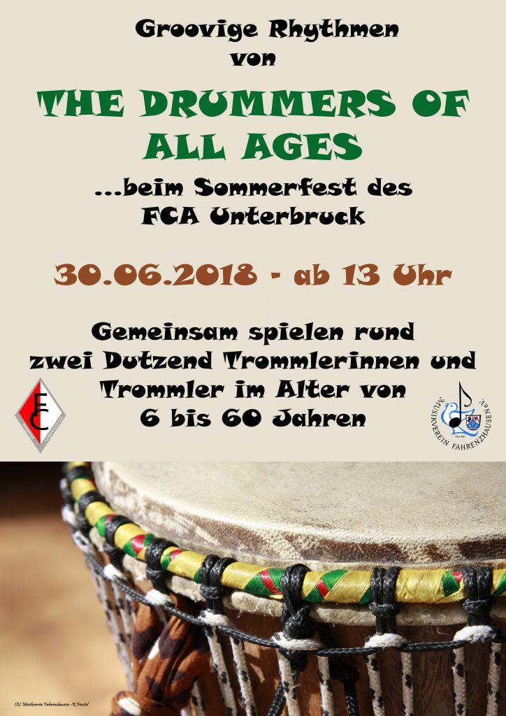 The Drummers Of All Ages @ FCA Unterbruck | Fahrenzhausen | Bayern | Deutschland